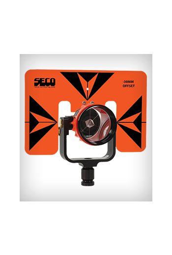 SECO 62 mm Premier Strobe Prism w/Target (Flo Orange w/Black)