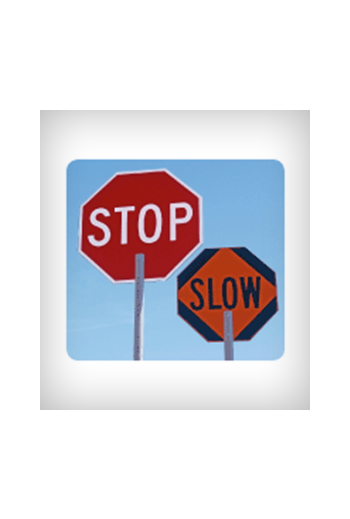 Stop/Slow Paddle Traffic Control